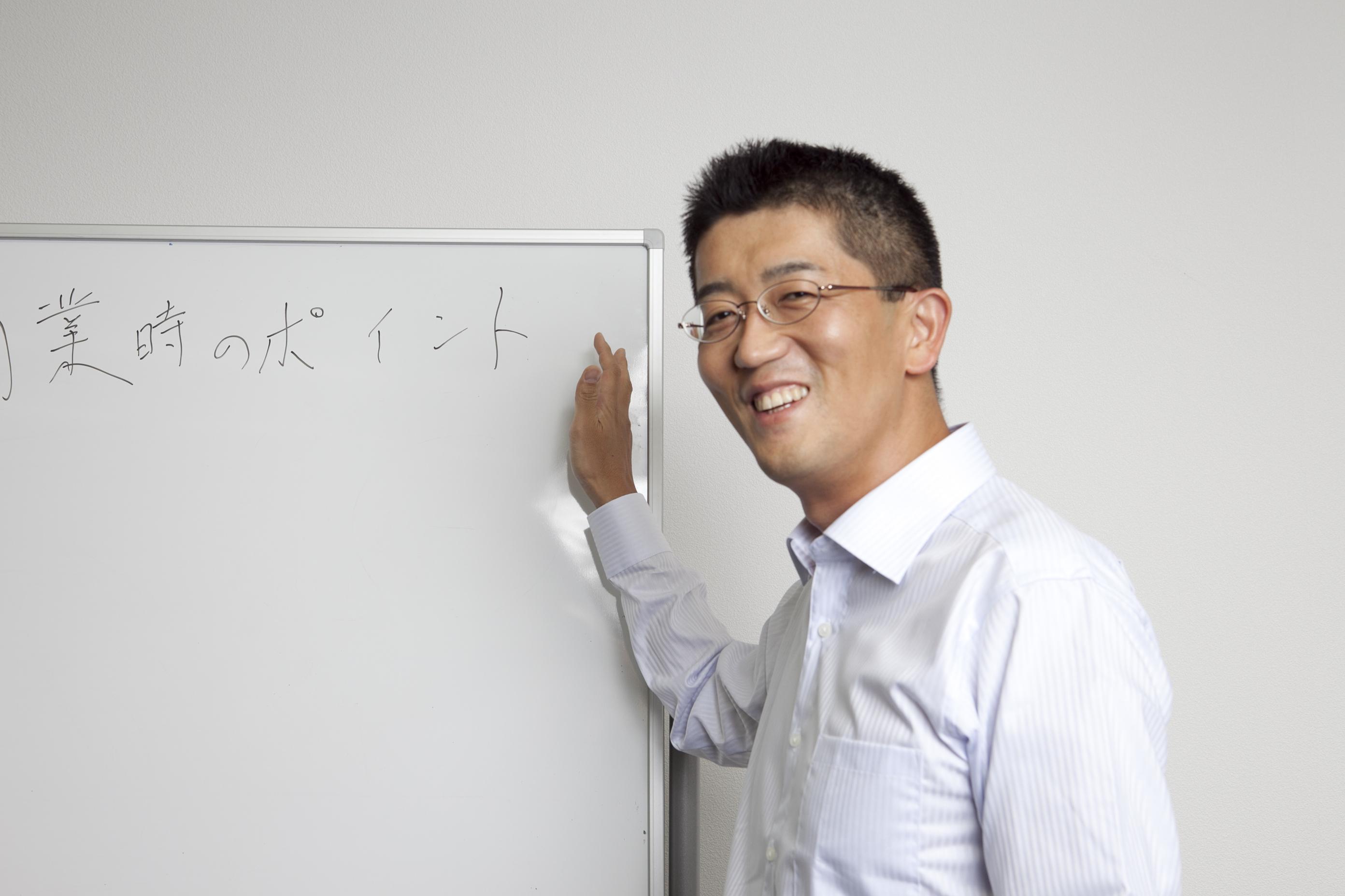 税理佐藤充宏のちょっと照れている写真です。