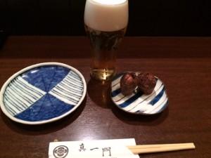 江東区で美味しい魚料理と酒を頂くなら、「旬材 ふかがわ 真一門」がおすすめです