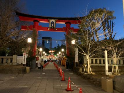 元旦早朝の江東区深川の富岡八幡宮で参拝客が少ないうちに初詣に参りました